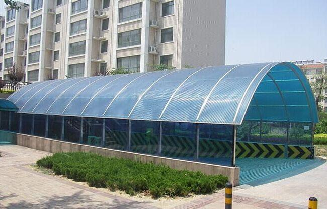 小区阳光板雨棚